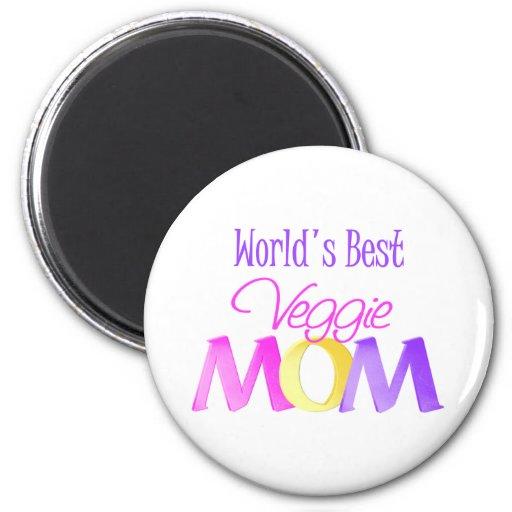 World's Best Veggie Mom Magnet