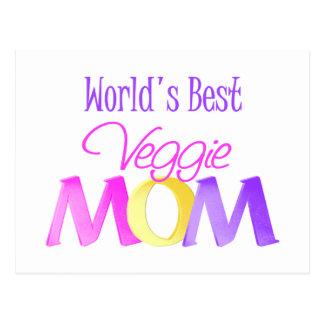 World's Best Veggie Mom Postcards