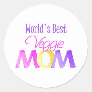 World's Best Veggie Mom Stickers