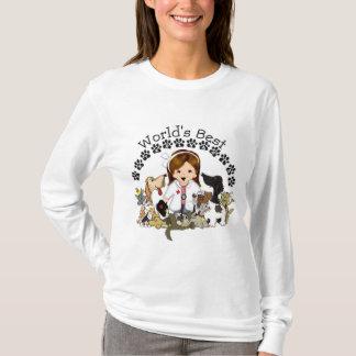 World's Best Veterinarian - Female Brown Hair T-Shirt