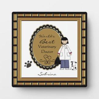 World's Best Veterinarian Lady Plaque