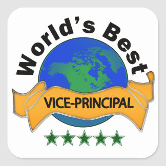 World's Best Vice Principal Square Sticker
