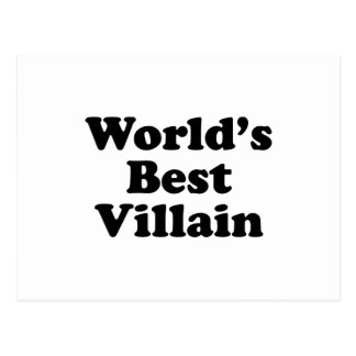 World's Best Villain Postcard