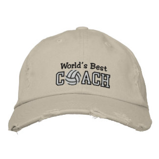 World's Best Volleyball Coach Embroidered Baseball Hat