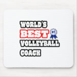 World's Best Volleyball Coach Mouse Pad