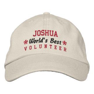 World's Best VOLUNTEER Custom Name V09 Embroidered Baseball Cap