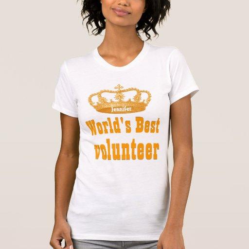 World's  Best VOLUNTEER Vintage Gold Crown Tees T-Shirt, Hoodie, Sweatshirt