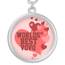 Worlds Best VoVo (or any name) Silver Plated Necklace