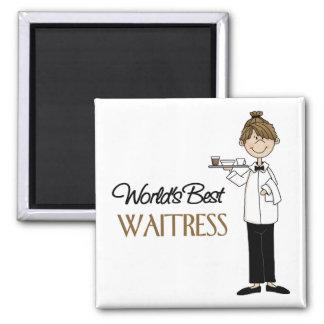 World's Best Waitress Fridge Magnet