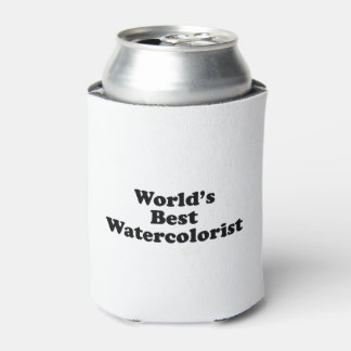 World's Best Watercolorist Can Cooler