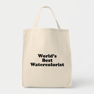 World's Best Watercolorist Tote Bag