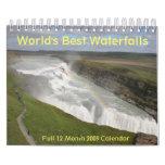 """World's Best Waterfalls 2009 Calendar 7""""x11"""""""
