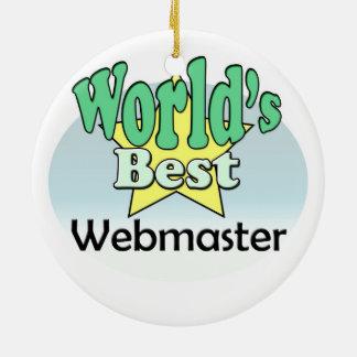 World's best web master ceramic ornament