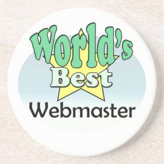World's best web master drink coaster