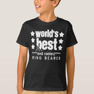 World's Best WEDDING RING BEARER Grunge Letters  2 T-Shirt