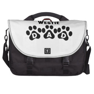 World's Best Westie Dad Laptop Messenger Bag