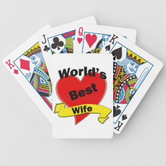 World's Best Wife Bicycle Playing Cards