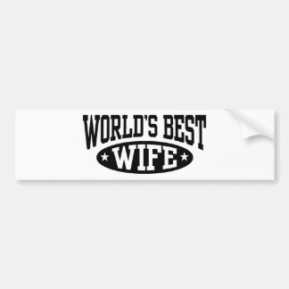 World's Best Wife Bumper Sticker