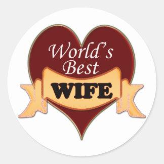 World's Best Wife Classic Round Sticker