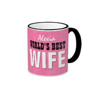 World's Best WIFE Pink Grunge V29 Mug