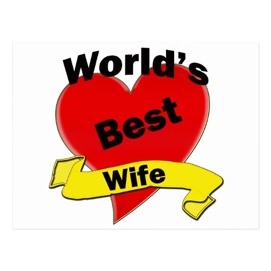 World's Best Wife Postcard