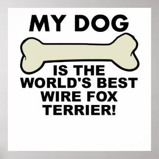 World's Best Wire Fox Terrier Poster
