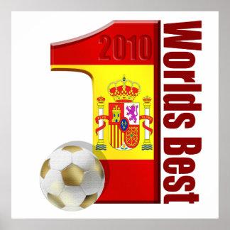 Worlds Best World No 1 Spain World Champions Print