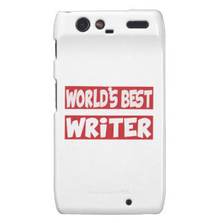 World's Best Writer. Motorola Droid RAZR Cover