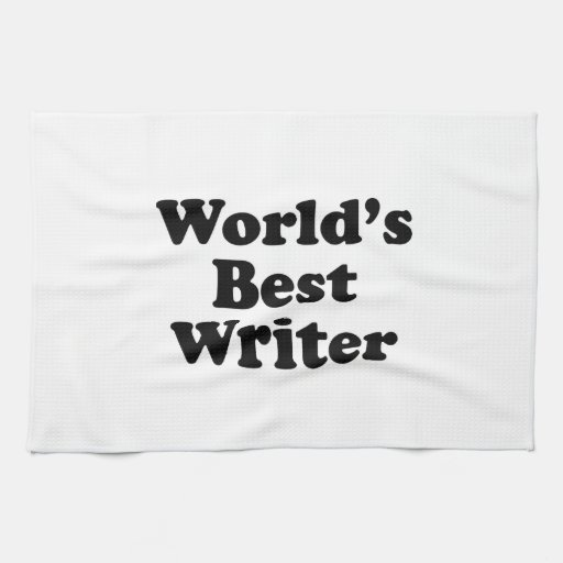 World's Best Writer Hand Towels