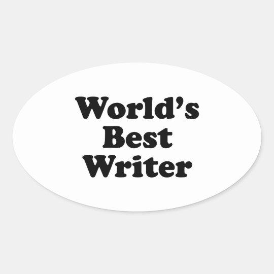 World's Best Writer Oval Sticker