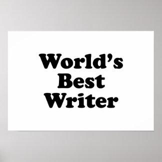 World's Best Writer Print