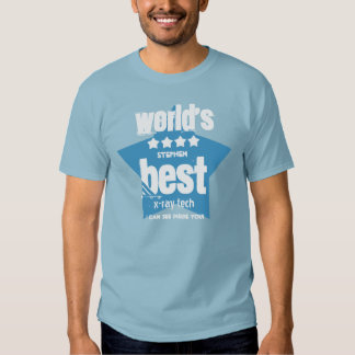 World's Best X-Ray Tech  Blue and STARS 2 T-shirt