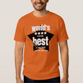 World's Best X-Ray Tech  Orange and STARS 2 Tee Shirt