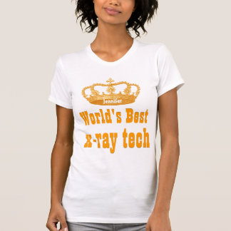 World's  Best X-RAY TECH Vintage Gold Crown Tee Shirt