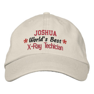 World's Best X-RAY Technician Custom Name V02 Embroidered Baseball Hat