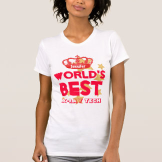 World's Best XRAY TECH Red Crown and Stars V16 Tee Shirt