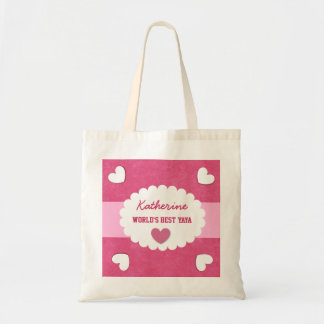 World's Best YaYa Custom Name Grandmother Gift Tote Bag