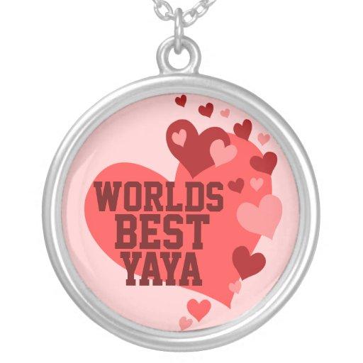 Worlds Best Yaya (or any name) Custom Necklace
