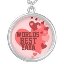 Worlds Best Yaya (or any name) Silver Plated Necklace