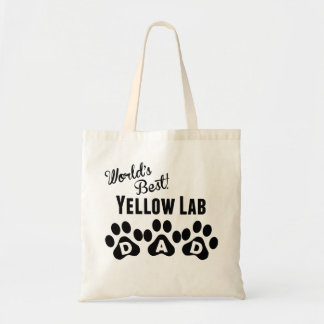 World's Best Yellow Lab Dad Budget Tote Bag