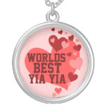 Worlds Best Yia yia (or any name) Personalized Necklace