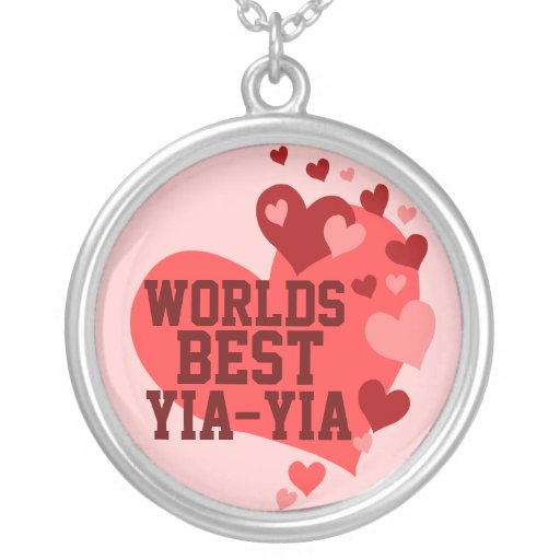 Worlds Best Yia-yia (or any name) Pendants