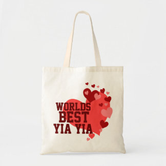Worlds Best Yia Yia Personalized Tote Bag