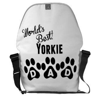 World's Best Yorkie Dad Messenger Bags