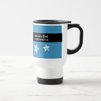 Worlds Best YOUTH PASTOR Blue with Star A01 Travel Mug
