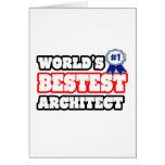 World's Bestest Architect Greeting Card