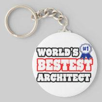 World's Bestest Architect Key Chain