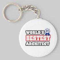 World's Bestest Architect Basic Round Button Keychain