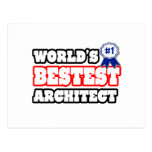 World's Bestest Architect Postcard