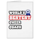 World's Bestest Cheer Coach Card